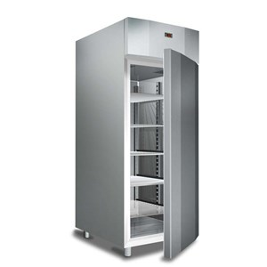 UPRIGHT FRIDGE - PAINTED STEEL/ABS EXTERIOR - STATIC COOLING - FOR BAKERIES - Mod. G-ER500P - SINGLE SOLID DOOR - CAPACITY LT 520 - TEMPERATURE RANGE +2°/+8°C - Dimensions cm L77,7 x D72,5 x h172 - CE APPROVED