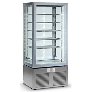 UPRIGHT FRIDGE - PAINTED STEEL AND ABS - Mod BYG 46 - FOR PASTRY - N. 1 GLASS DOOR - VENTILATED COOLING - CAPACITY LT 400 - Temperature +3º/+10ºC - Dim. cm L 74 x D 68 x h 180 - CE approved
