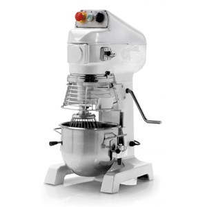 PLANETARY MIXER - TILTING HEAD mod. SL/B5 - Speed controller - Satin-finish stainless steel construction - Single phase V 230 - Bowl capacity lt. 5 - Power W 500 - CE APPROVED