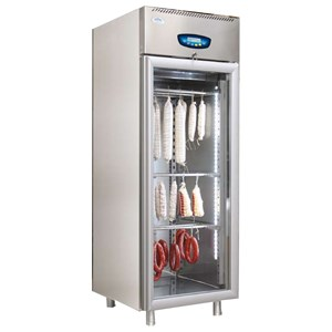 MATURING CHAMBER - STAINLESS STEEL - MOD. STG ALL 700 LCD - OPERATING TEMPERATURE + 2°/ +25°C - CAPACITY Kg. 100 - N. 1 DOOR - DIMENSIONS Cm W 75 x D81,5 x h210
