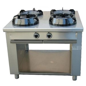 CHINESE GAS COOKER, 1 BURNER  - MOD. CC/01 - Exclusively custom made - Open cupboard - Smooth top - Gas power choices: kW 9,5/14/21 - Dimensions: cm L 50 x D 70 x H 85 - EC standards