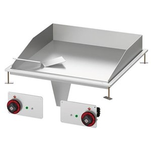 BUILT-IN ELECTRIC BOILING TOP - MOD. PCD-64ET - N. 2 plates - Three phase or singe phase supply 400V/2N 230V/3 230V - Power Kw 5,2 - Dimensions: cm. L 40 x D 60 x H 5 - EC standards