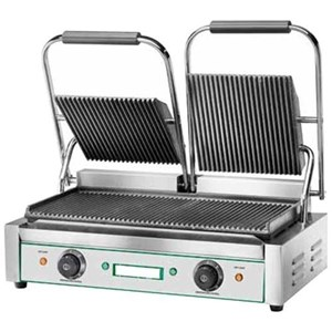 CAST IRON GRIDDLE - ELECTRIC - mod EG/01 - Single GROOVED griddle - Cooking surface: cm L 24 x D 23 - Power 1800 W - 230V single phase - 50-60 Hz - CE APPROVED