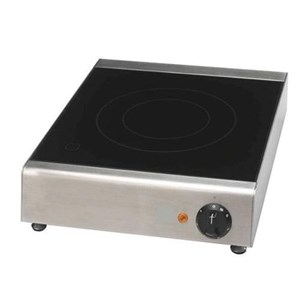 INDUCTION HOB Mod. PFD/20 - Glass-ceramic plate - Induction surface: mm 118 ÷ mm 220 - Single phase 230V/1N/50Hz - Power KW 2 - Power output: 500 ÷ 2000W - CE approved