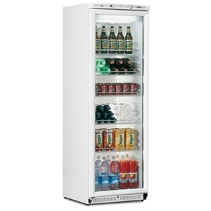 UNDERCOUNTER FRIDGE - PAINTED STEEL - STATIC COOLING - Mod. G-SC50G - CAPACITY Lt 68 - SINGLE GLASS DOOR - TEMPERATURE RANGE  +2°/+8°C - Dimensions cm L57 x D53,3 x h54 - CE APPROVED