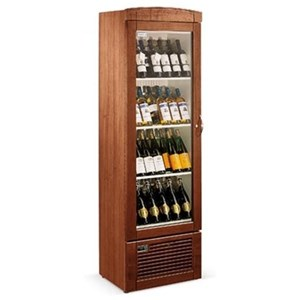 WINE DISPLAY COOLER - MOD. EY 42 II2V - VENTILATED COOLING - Temperature °C +4/+18 - DOUBLE GLASS DOOR - STEEL CONSTRUCTION - GROSS CAPACITY Lt. 103 - NET CAPACITY Lt. 100 - Power W 80 - SINGLE PHASE 230/50Hz - Dimensions cm L 59,5 x D 57 x H 82