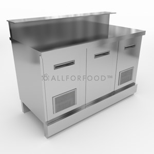 BEER COUNTER - FINISHING PANELS NOT INCLUDED - MOD. CX88/10P - With stainless steel worktop or without worktop designed for marble/granite/agglomerate worktop applications - L. 100cm - N. 2 ventilated stainless steel doors - reinforced base - DIM. Cm L 100 x D 70 x h 93,1 or 95,1