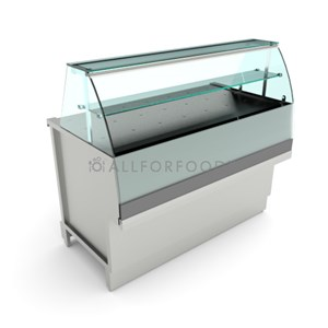 PIZZA DISPLAY - MOD. BREAK PIZZA VBD - FINISHING PANELS NOT INCLUDED - LOW FLAT HINGED GLASS FRONT - PAINTED STEEL TUBULAR BASE - STAINLESS STEEL TOP - N. 3 DRAWERS 1/6 - DIM. Cm D 68,8 x H 112,7