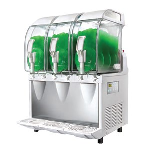 ELECTRONIC SLUSH MACHINE - MOD. B 3 ETC - N. 1 BOWL - N. 1 COMPRESSOR - CAPACITY LT 3 - Dim. Cm. L 18 x D 47 x h 51 - CE APPROVED