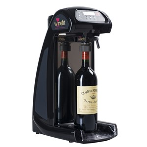 WINE By The GLASS-Plug DISPENSER & Play-Mod. One-automatic dosage-you can open an unlimited number of bottles-no maintenance-Ø max bottle Height max 108 mm-350 mm-Ø 28/33 mm neck-110/230V 50/60 Hz-Power and battery power