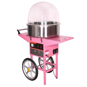 CANDY FLOSS MACHINE ON CART - Mod. ZF 30 - Stainless steelbowl - Production: 1 per 30 seconds - Power kW 1,03 - Single phase - Dimensions cm L 96 x D 53 x 122h - EC standards