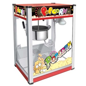 POPCORN MACHINE - Mod. PC 6 - N. 1 pot - Capacity: 110 gr corn - Power W 1300 - Single phase - Dimensions cm L 50,5 x D 37 x 68h - EC standards