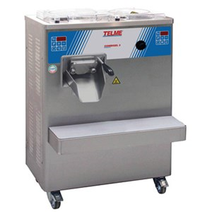 COMBI ICE CREAM PASTEURIZER/BATCH FREEZER - MOD. COMBIGEL 3 - MAX CAPACITY lt 4 - SUPPLY V 400/50Hz THREE PHASE - POWER Kw 5,6 - DIMENSIONS Cm L 74 x D 45 x h 105 - EC STANDARDS