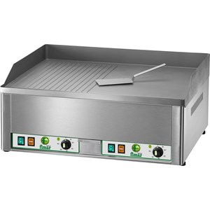 ELECTRIC COUNTERTOP GRIDDLE - Mod. FRY1/L - Smooth plate - Power 3 kw - Cooking surface cm L 32,5 x 48 - Single phase - CE APPROVED