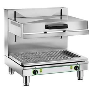 SALAMANDER - Mod. SA 936 - Cooking surface cm 45x25 - 3 cooking levels - Power kW 2 - Single phase - Dimensions cm L 62 x D 33 x 28h - EC standards