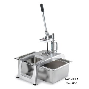 SQUEEZE And MANUAL SLICER-Mod. SPR/M2-suitable as a juicer and as black painted frame-size potato chipper-L 18 x w 24 x 47h-CE