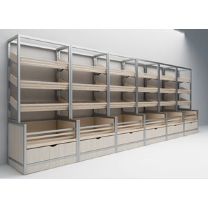 EXHIBITOR BREAD-Mod. HARRY RESEALABLE 50-50 inclinations and 3-dimensions cm L x d 82 x 112h