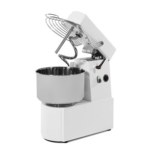 SPIRAL MIXER WITH FIXED HEAD - MOD. LN6/230 - DOUGH PER CYCLE: Kg. 5 - PRODUCTION PER HOUR Kg. 18 - SINGLE PHASE V. 230 - DIMENSIONS Cm 45 X 25 X 35 - CE APPROVED