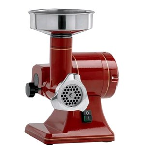COUNTERTOP MEAT MINCER - MOD. TRCA R8I - RETRO STYLE - PRODUCTION PER HOUR Kg 15 - SUPPLY 230/50Hz SINGLE PHASE - DIMENSIONS Cm 26 X 27 X 36 - CE STANDARDS