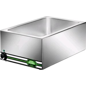 HOT BAIN MARIE - MOD. BM7700 - Stainless steel construction - Capacity n. 1 pan 1/1 GN H15 cm - Power W 1200 - Single phase V230 50/60 Hz - Dimensions cm L57xD37xH22