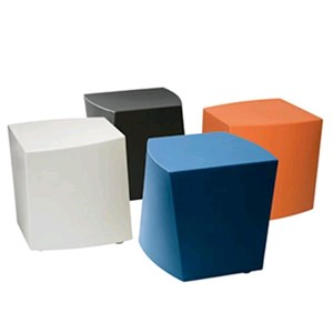 SHORT STOOL/ POUF BOOM - MOD. 0008 - POLYETHYLENE CHAIR - FOR INDOOR/OUTDOOR USE - N. 2-PIECE SET - DIMENSIONS Cm L41 x D42 x H45 - EC STANDARDS