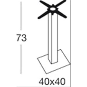 STAND TIFFANY - MOD. 5180ZN - BLACK VARNISHED CAST IRON SQUARE BASE cm 40 x 40 - ADJUSTABLE FEET - SQUARE BLACK POWDER-PAINTED GALVANIZED POLE cm 80 x 80 - CAST IRON BRACKETS - TOP MAX ø cm 90 OR cm 90x90 - INDOOR/OUTDOOR USE - MINIMUM PURCHASE QUANTITY  N. 1 - DIMENSIONS cm L 40 x D 40 x H 73 - EC STANDARDS
