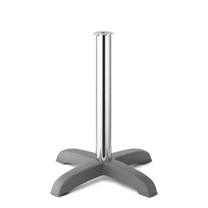 STAND DODO - MOD. 5200 - 4-FEET POLYPROPYLENE STAND WITH STABILIZING MASS AT BASE - ADJUSTABLE FEET - ANODIZED ALUMINIUM POLE ø mm 75 - TOP MAX ø cm 70 OR cm 80x80 - INDOOR/OUTDOOR USE - MINIMUM PURCHASE QUANTITY  N. 1 - DIMENSIONS cm L 65 x D 65 x H 75 - EC STANDARDS