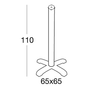 STAND DODO - MOD. 5205 - 4-FEET POLYPROPYLENE STAND WITH STABILIZING MASS AT BASE - ADJUSTABLE FEET - ANODIZED ALUMINIUM POLE ø mm 75 - TOP MAX ø cm 70 OR cm 60x60 - INDOOR/OUTDOOR USE - MINIMUM PURCHASE QUANTITY  N. 1 - DIMENSIONS cm L 65 x D 65 x H 110 - EC STANDARDS