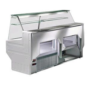 REFRIGERATED SERVE-OVER DISPLAY COUNTER - IDEAL FOR THE DISPLAY OF DELI, DAIRY AND GASTRONOMY PRODUCTS - MOD. HILL - GRANITE WORKTOP - STAINLESS STEEL DISPLAY DECK - CLOSED TEMPERED GLASS FRONT - REAR REFRIGERATED CHAMBER - BUILT-IN MOTOR - SINGLE PHASE SUPPLY V 230/50 Hz - STATIC COOLING - TEMPERATURE °C +4/+6 - EC STANDARDS - DISPLAY DECK DEPTH: 52 cm