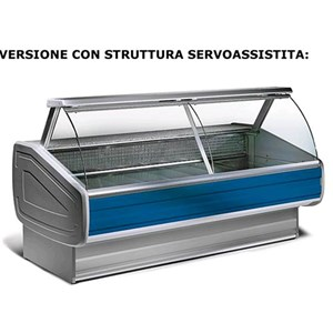 REFRIGERATED SERVE-OVER DISPLAY COUNTER - IDEAL FOR THE DISPLAY OF COLD CUTS, CHEESE AND GASTRONOMY PRODUCTS - MOD. MEDLODY_VT - PLASTIC-COATED SHEET METAL EXTERIOR AND INTERIOR - GRANITE WORKTOP - AISI 304 STAINLESS STEEL DISPLAY DECK - HINGED GLASS FRONT - REAR REFRIGERATED CHAMBER - BUILT-IN MOTOR - SINGLE PHASE SUPPLY V 230/50 Hz - VENTILATED COOLING - TEMPERATURE °C 0/+2 - EC STANDARDS - DISPLAY DECK DEPTH: 80 cm