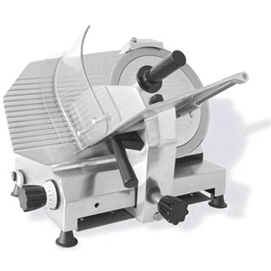 GRAVITY SLICER mod.GPR 300 MN (Single phase) - EC standards - RoHS - Stainless steel blade Ø 300 - Useful cut mm 245x195 - Fixed blade sharpener