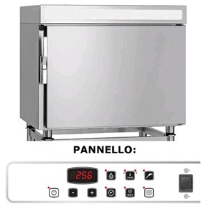 HOLD AND REGENERATION OVEN - MOD. GR1011E - ELECTRONIC - CAPACITY: 10 GN 1/1 ; 10 (60X40) - THREE PHASE V 400/3/50 Hz - POWER W 12600 - DIMENSIONS Cm L 82 X D 75 X h 111 - WEIGHT Kg 128
