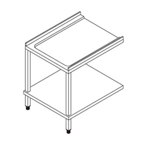 UNLOADING TABLE FOR DOOR-TYPE DISHWASHER - MOD. PL - LEFT/RIGHT - WITH UNDERSHELF - For dishwasher mod. X110E, X120E, X150E and SM110TH, SM120TH, SM150TH