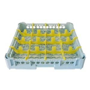 CLASSICAL RACK, 16 SQUARE GLASS COMPARTMENTS - MOD. KIT1/4X4 - RACK DIMENSIONS cm L 50 X D 50 - INTERNAL COMPARTMENT DIMENSIONS cm L 11,3 X D 11,3 - GLASS HEIGHT cm 0 - 6,5 - EC STANDARDS
