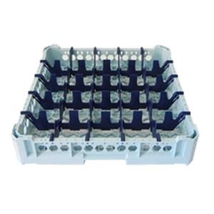 CLASSICAL RACK, 25 SQUARE GLASS COMPARTMENTS - MOD. KIT1/5X5 - RACK DIMENSIONS cm L 50 X D 50 - INTERNAL COMPARTMENT DIMENSIONS cm L 8,8 X D 8,8 - GLASS HEIGHT cm 0 - 6,5 - EC STANDARDS