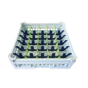 CLASSICAL RACK, 30 RECTANGULAR COMPARTMENTS FOR CUPS, COFFEE CUPS AND JUGS - MOD. KIT 5X6 - RACK DIMENSIONS cm L 50 X D 50 - INTERNAL COMPARTMENT DIMENSIONS cm L 7,3 X D 8,8 - EC STANDARDS
