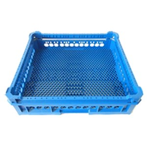 BASE RACK WITH SMALL HOLES AND EXTRA BORDER FOR MIXED ITEMS - MOD. 100106 - RACK DIMENSIONS cm L 50 X D 50 X H 120 - EC STANDARDS