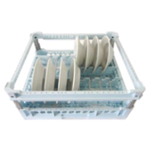 DISHWASHER RACK FOR N. 15 PLATES AND BOWLS WITH SAFETY FRAME - MOD. 100115P - RACK DIMENSIONS cm L 50 X D 50 - MAX DIAMETER 28 cm - EC STANDARDS