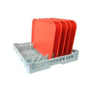 DISHWASHER RACK FOR N. 8 CANTINE TRAYS - MOD. 100125 - RACK DIMENSIONS cm L 50 X D 50 - EC STANDARDS