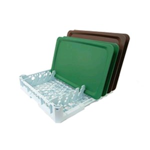 OPEN DISHWASHER RACK FOR N. 8 GASTRONORM/EURONORM TRAYS - MOD. 100175 - RACK DIMENSIONS cm L 50 X D 50 - EC STANDARDS