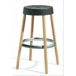 STOOL NATURAL GIM - MOD. 2820 FN - ENGINEERING PLASTIC SEAT - NATURAL BEECH LEGS ø mm 35 - NON-TREATED PROTECTIVE ENGINEERING PLASTIC FOOT REST - FOR INDOOR USE - DISMANTLED - MINIMUM PURCHASE QUANTITY N. 2 - DIM. cm L 44 x D 44 x H 75 - EC STANDARDS