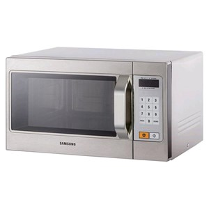 STAINLESS MICROWAVE OVEN-MOD. CM1089A-PROGRAMMABLE DIGITAL CONTROLS-structure and STAINLESS STEEL CHAMBER-CHAMBER capacity Lt. 26-230V-POWER 1100 W POWER-dimensions cm. L 51.7 41.2 x 29.7 x P h