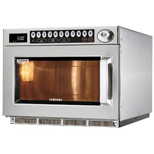 STAINLESS MICROWAVE OVEN-MOD. CM1529A-PROGRAMMABLE DIGITAL CONTROLS-structure and STAINLESS STEEL CHAMBER-CHAMBER capacity Lt. 2/3-1 GN 26 or POWER OUTPUT POWER 1500 W-230V-dimensions cm. W 46.4 x 55.7 x 36.8 P h