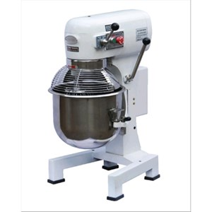 PLANETARY MIXER - Mod. IP 30 - Cast iron base - Stainless steel bowl - Bowl capacity lt 25 - Power kW 1,5 - Single phase - Dimensions cm L 55 x D 50 x 89h - EC standards