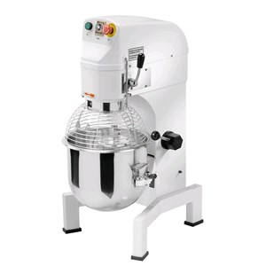 PLANETARY MIXER - Mod. AP 10 - Struttura in ghisa e acciaio - Vasca, frusta, spatola e uncino in acciaio - Capacity vasca lt 10 - Power W 600 - Single phase - Dimensions cm L 40 x P 49 x 78h - EC standards