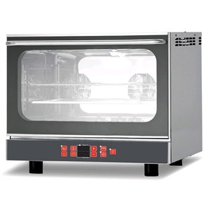 ELECTRIC CONVECTION OVEN FOR GASTRONOMY AND PASTRY-MOD. BERU464_GERU411SP-digital control-with humidifier and GRILL-99 programs-down door-SINGLE PHASE POWER SUPPLY 230/1/50-3.5 KW-capacity: 4 X (GN 1/1; 60 x 40)-DISTANCE Trays 7-dimensions Cm L X P X h 67 72.4 59.8