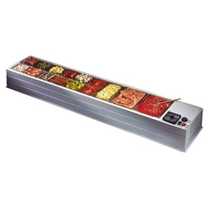 REFRIGERATED TOPPING DISPLAY   COUNTERTOP   Mod. MAXI   Temperature +2°/+