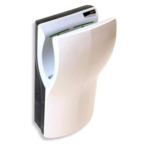 ELECTRIC HAND DRYER Of LAST GENERATION-Mod. White ABS-A vertical DUALFLOW-insertion-Super fast and super power-saving