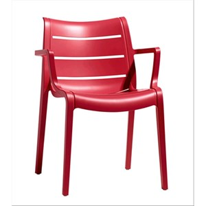 SUNSET CHAIR-MOD. 2329-REINFORCED POLYMER STRUCTURE-for INDOOR and OUTDOOR USE-stackable-quantity SOLD # 4-DIM. 61 x d 59 x H 82 cm-CE