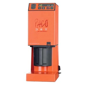 PACOJET-MOD. PACOJET JUNIOR-capacity GLASS lt 0.8-2000 rpm BLADE speed-power supply 230 V/50 Hz single phase-power W 1000-DISPLAY with BUTTONS-CE